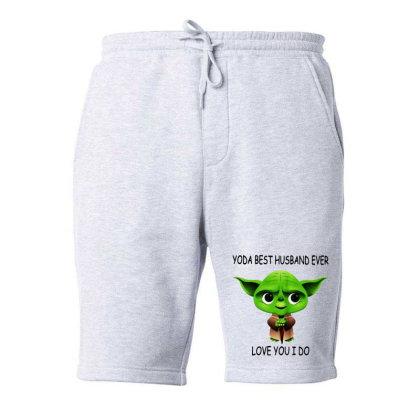Yoda Best Husband Fleece Short Designed By Pinkanzee