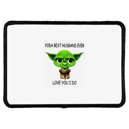 Yoda Best Husband Rectangle Patch Designed By Pinkanzee