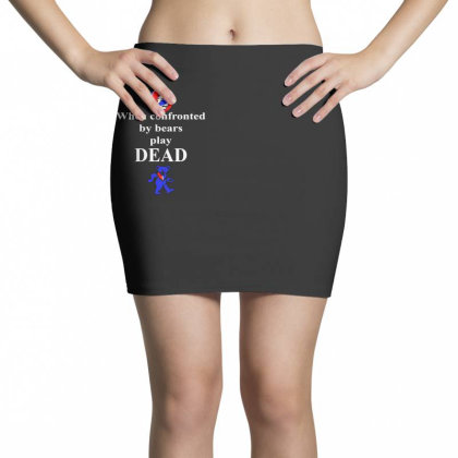 Bears Play Dead Mini Skirts Designed By Pinkanzee