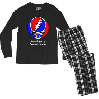 We Will Survive Men's Long Sleeve Pajama Set Designed By Pinkanzee