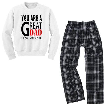 Great Dad Youth Sweatshirt Pajama Set Designed By Pinkanzee