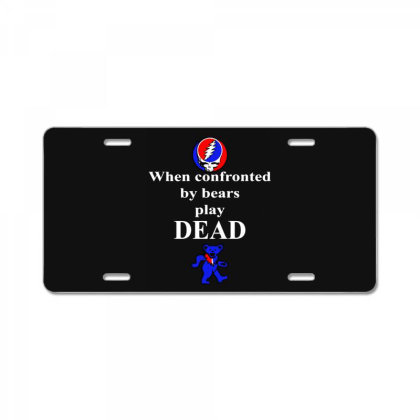 Bears Play Dead License Plate Designed By Pinkanzee