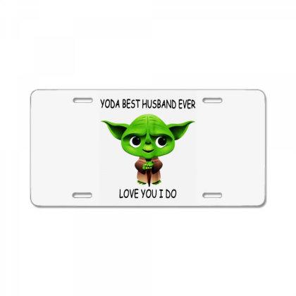 Yoda Best Husband License Plate Designed By Pinkanzee