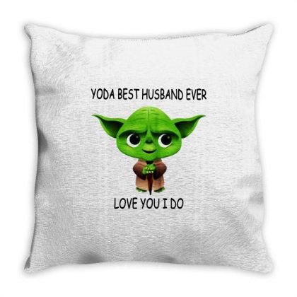 Yoda Best Husband Throw Pillow Designed By Pinkanzee