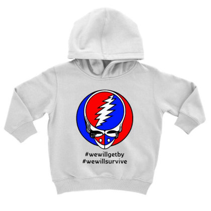 We Will Survive Toddler Hoodie Designed By Pinkanzee