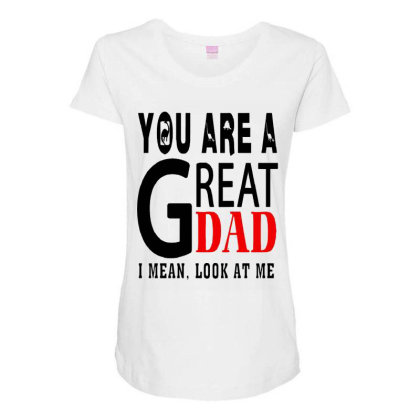Great Dad Maternity Scoop Neck T-shirt Designed By Pinkanzee