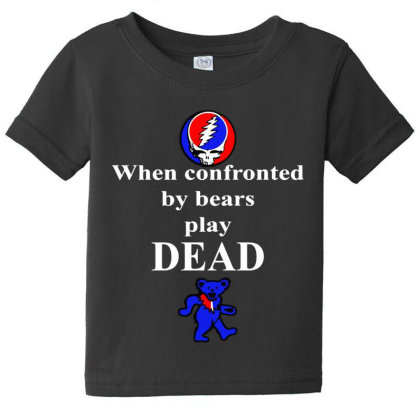 Bears Play Dead Baby Tee Designed By Pinkanzee