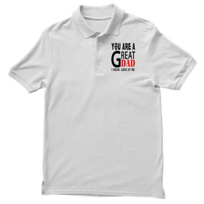 Great Dad Men's Polo Shirt Designed By Pinkanzee