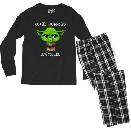 Yoda Best Husband Men's Long Sleeve Pajama Set Designed By Pinkanzee
