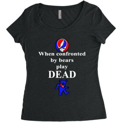 Bears Play Dead Women's Triblend Scoop T-shirt Designed By Pinkanzee