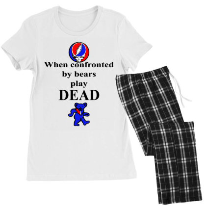 Bears Play Dead Women's Pajamas Set Designed By Pinkanzee