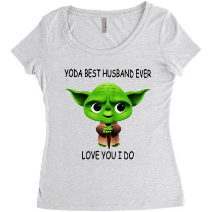 Yoda Best Husband Women's Triblend Scoop T-shirt Designed By Pinkanzee