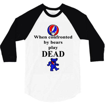 Bears Play Dead 3/4 Sleeve Shirt Designed By Pinkanzee