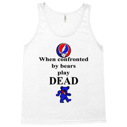 Bears Play Dead Tank Top Designed By Pinkanzee