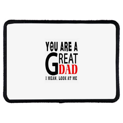 Great Dad Rectangle Patch Designed By Pinkanzee
