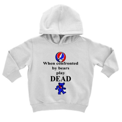 Bears Play Dead Toddler Hoodie Designed By Pinkanzee