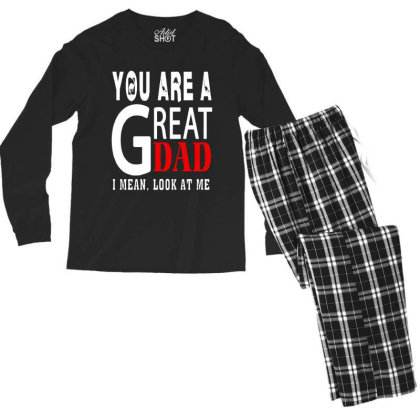 You Are A Great Dad Men's Long Sleeve Pajama Set Designed By Pinkanzee