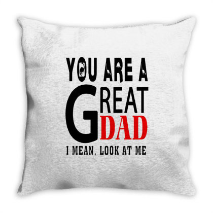 Great Dad Throw Pillow Designed By Pinkanzee