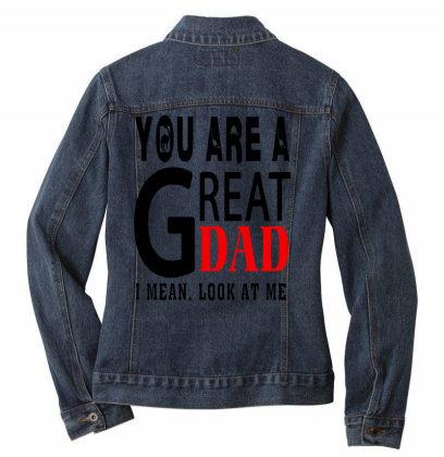 Great Dad Ladies Denim Jacket Designed By Pinkanzee
