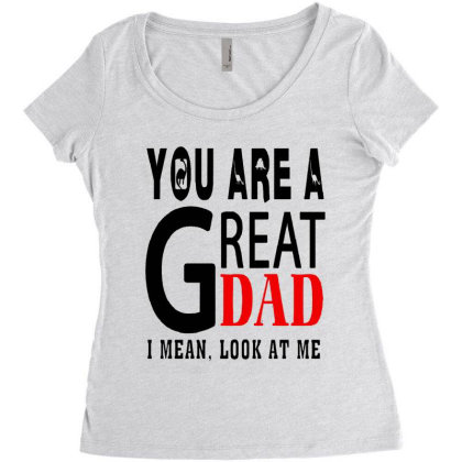 Great Dad Women's Triblend Scoop T-shirt Designed By Pinkanzee