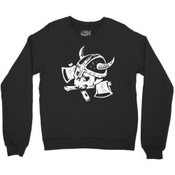 funny skull death viking Crewneck Sweatshirt | Artistshot