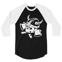 funny skull death viking 3/4 Sleeve Shirt | Artistshot