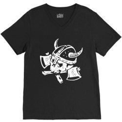 funny skull death viking V-Neck Tee | Artistshot