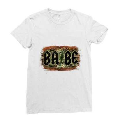 Camouflage Patterned Babe Tried Ladies Fitted T-shirt Designed By Bettercallsaul