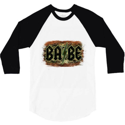 Camouflage Patterned Babe Tried 3/4 Sleeve Shirt Designed By Bettercallsaul