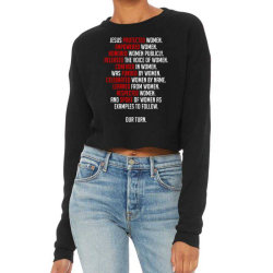 Jesus Protected Women Cropped Sweater Designed By Forest Hill
