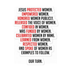 Jesus Protected Women Sticker Designed By Forest Hill