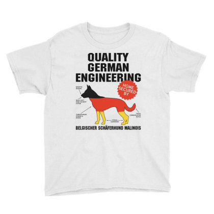 Quality German Engineering K9 Malinois Malenoa Youth Tee Designed By Carambaart