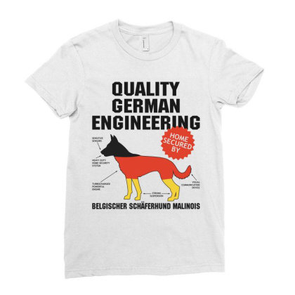 Quality German Engineering K9 Malinois Malenoa Ladies Fitted T-shirt Designed By Carambaart