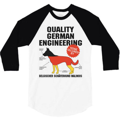 Quality German Engineering K9 Malinois Malenoa 3/4 Sleeve Shirt Designed By Carambaart