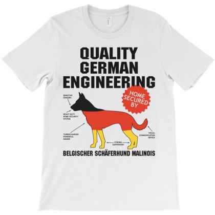 Quality German Engineering K9 Malinois Malenoa T-shirt Designed By Carambaart
