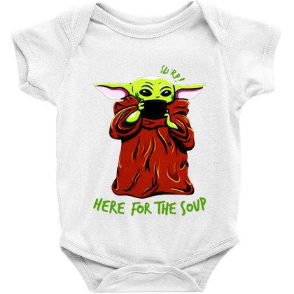 Baby Yoda Dringking Soup Baby Bodysuit