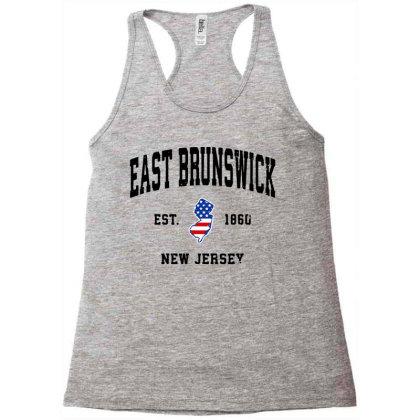 East Brunswick New Jersey Nj Vintage American Flag Racerback Tank Designed By Jessicafreya