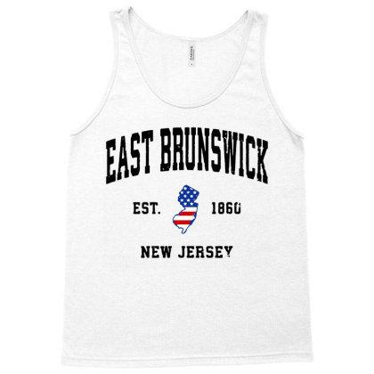 East Brunswick New Jersey Nj Vintage American Flag Tank Top Designed By Jessicafreya