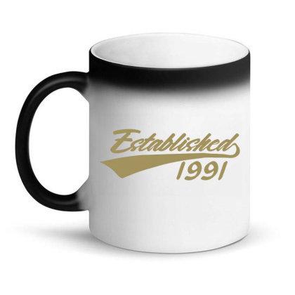 Established 1991 30 Year Old 30th Birthday Magic Mug Designed By Jessicafreya