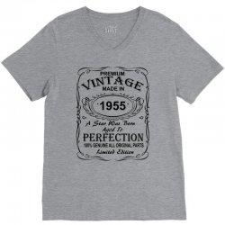 Birthday Gift Ideas for Men and Women was born 1955 V-Neck Tee | Artistshot