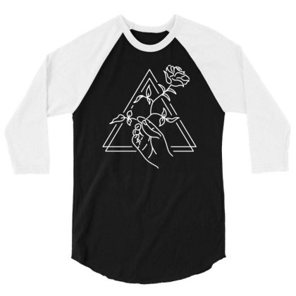 Hand And Rose 3/4 Sleeve Shirt Designed By L4l4pow