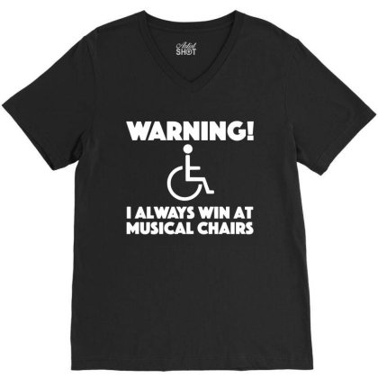 Handicap Sarcastic Wheelchair Disabled V-neck Tee Designed By L4l4pow