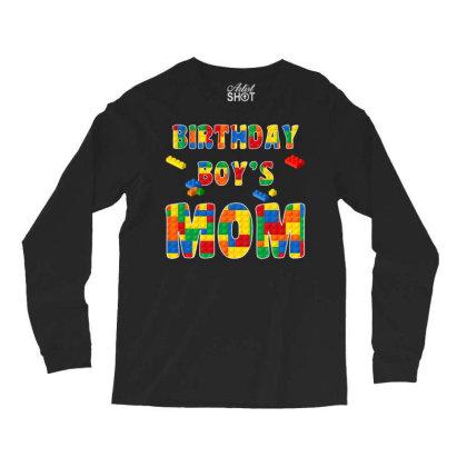Building Block Mom Of Birthday Boy T Shirt Long Sleeve Shirts Designed By Cuser0105