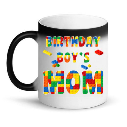Building Block Mom Of Birthday Boy T Shirt Magic Mug Designed By Cuser0105