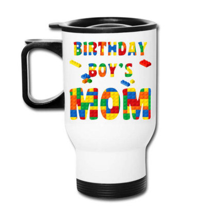 Building Block Mom Of Birthday Boy T Shirt Travel Mug Designed By Cuser0105