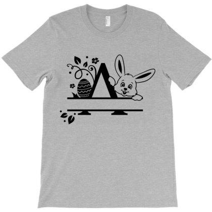 Custom Easter Bunny Alphabet Name T-shirt Designed By Chiks