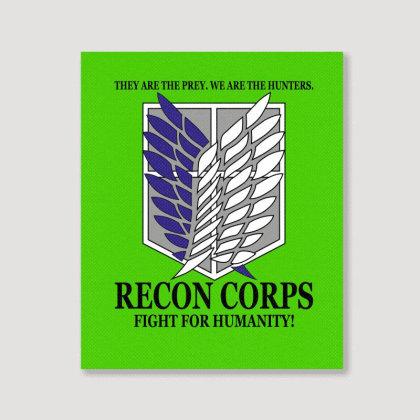 Recon Corps- Attack On Titan Portrait Canvas Print Designed By Tshiart