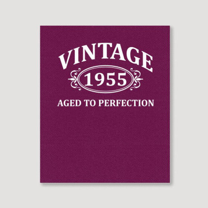 Vintage 1955 Aged To Perfection Portrait Canvas Print Designed By Tshiart
