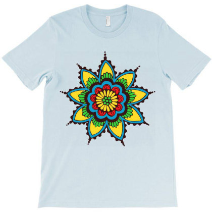 Ethnic Mandala Art T-shirt Designed By Chiks