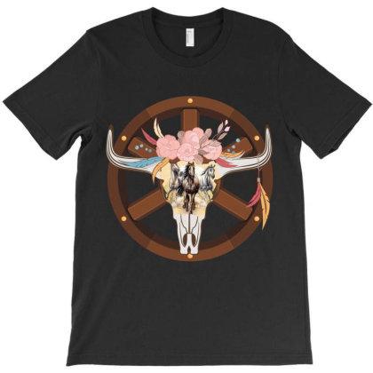 Cow Head Wheel T-shirt Designed By Costom